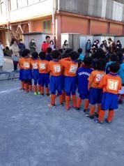 スーパーカップの表彰式。
